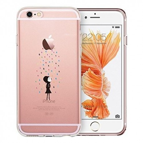 iPhone 6 / 6s funda, ESR iPhone 6 / 6s 4.7'' TPU Funda Dura Parachoques Funda Cover Carcasa Para iPhone 6 / 6s(Arco iris Lluvia)