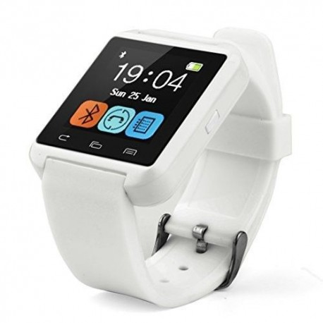 Swees® U8 Bluetooth Smart Watch Inteligente Reloj Teléfono Compañero para Android IOS Iphone Samsung Galaxy HTC,Sony (Blanco, U8
